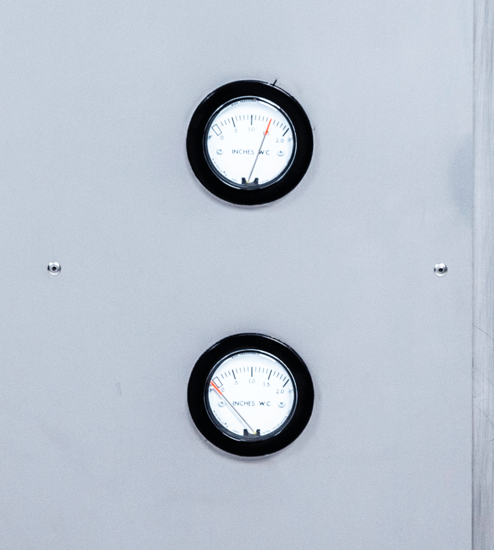 Mounted E1 Air Filtration Unit filter dials