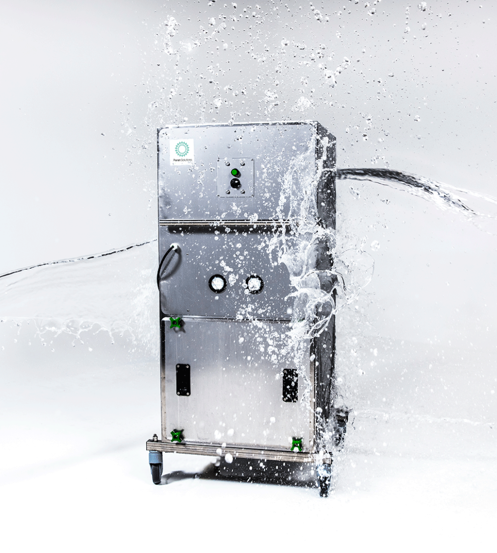 E3 Air Filtration Unit getting splashed by water
